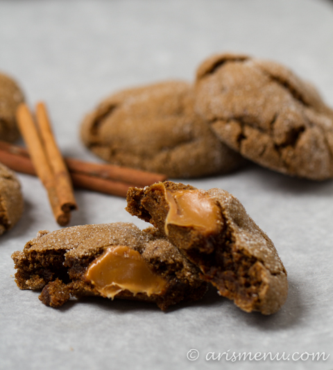 Drink & Dish: Caramel Stuffed Ginger Molasses Cookies ...