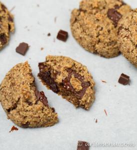 Eggnog Dark Chocolate Chunk Almond Meal Cookies