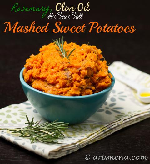 Rosemary, Olive Oil & Sea Salt Mashed Sweet Potatoes - Ari ...