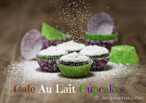 Cafe Au Lait Cupcakes: Ultra soft espresso cupcakes with a to die for cream filling