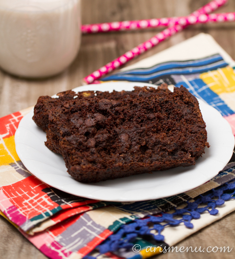 Double Chocolate Banana Bread: Gluten-free, NO butter, NO oil!