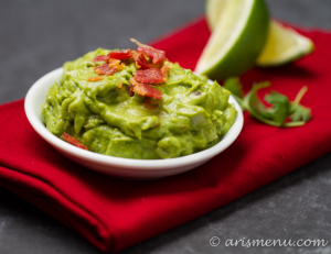 Roasted Jalapeno & Garlic Bacon Guacamole