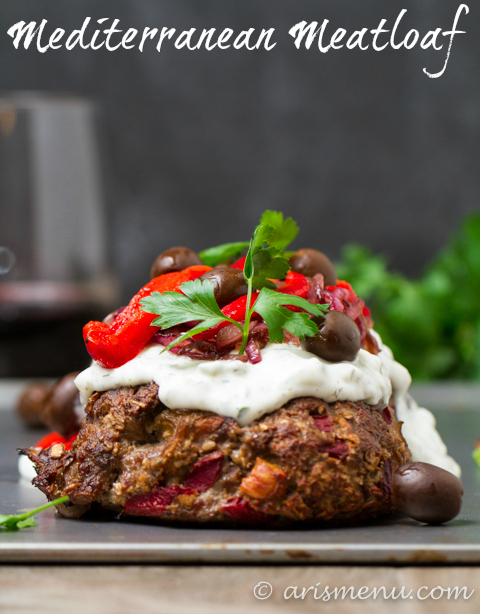Greek Lamb Meatloaf: Greek gyro meats American meatloaf in this incredible comfort food mash-up! {gf}