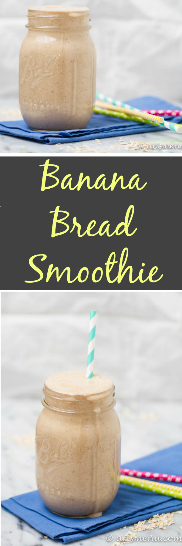 Rich and creamy banana bread smoothie
