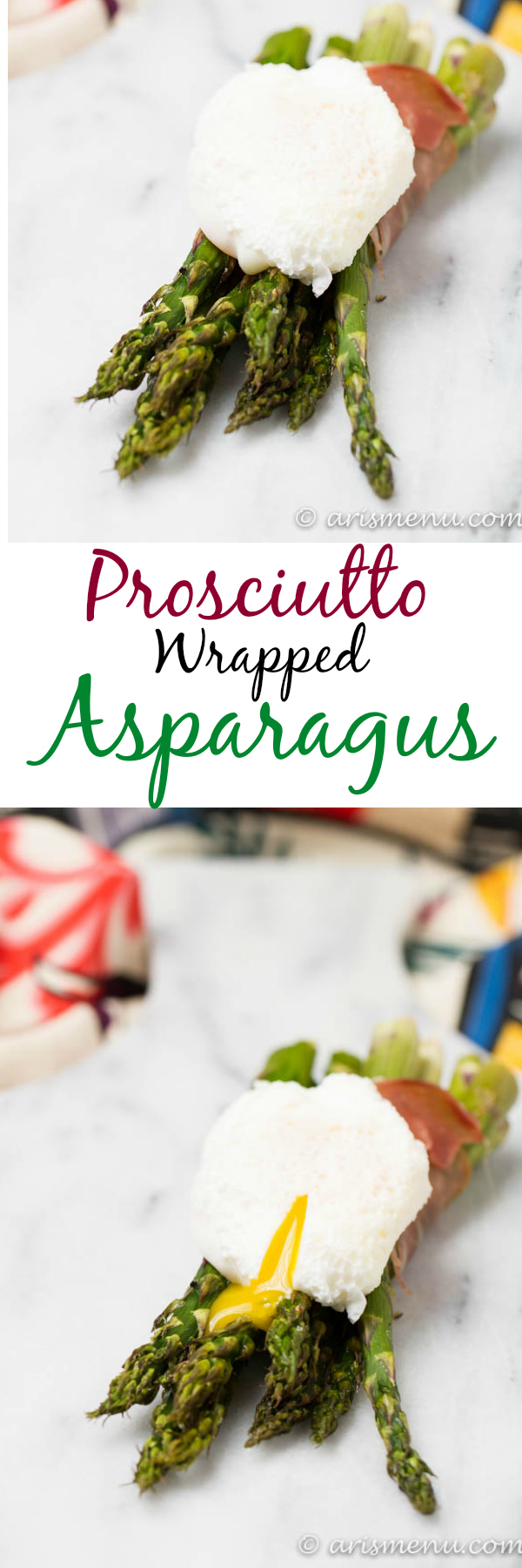 Prosciutto Wrapped Asparagus with a Poached Egg: The perfect healthy & easy summer side dish!