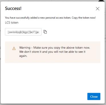 Azure DevOps personal token