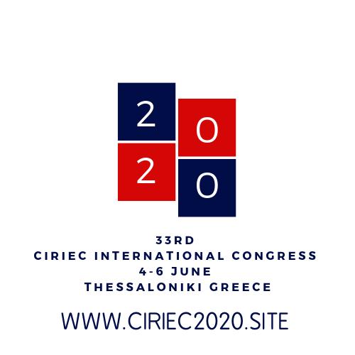 33RD CIRIEC INTERNATIONAL CONGRESS THESSALONIKI 2020