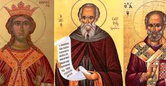 Τα Νικολοβάρβαρα –  праздники трёх святых: Варвары, Саввы и Николая