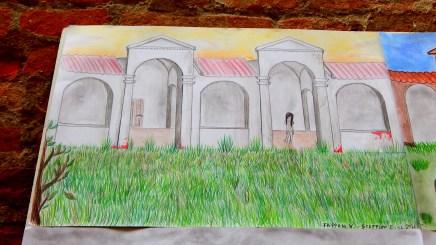 Uno dei disegni del Sagrato realizzati dai ragazzi