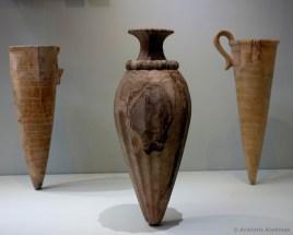 Μινωικά τελετουργικά σκεύη (ρυτά) από το ανάκτορο της Κνωσού. Μουσείο Ηρακλείου.