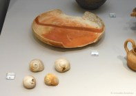 Plate and snail shells.