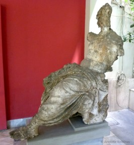 The badly damaged statue of Zeus.