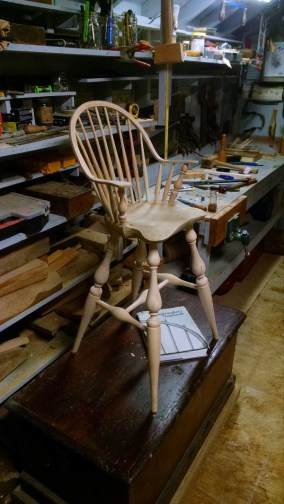 Completed chair, ready for finish.