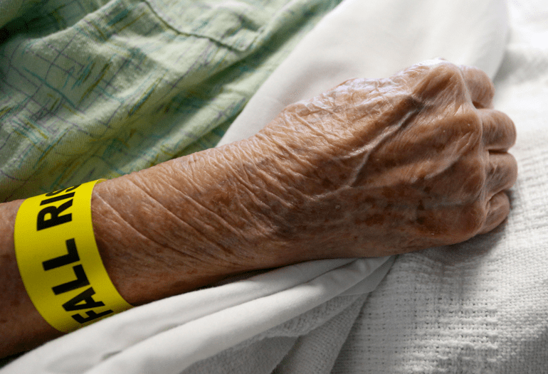 hospitalized elderly woman awaiting unsafe discharge