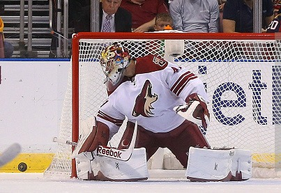 during a game  at BB&T Center on October 30, 2014 in Sunrise, Florida.