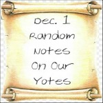 Dec.1 Random Notes On Our Yotes