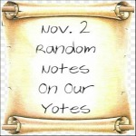 Nov. 2 Random Notes On Our Yotes