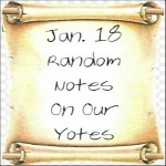 Jan. 18 Random Notes On Our Yotes