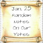 Jan. 25 Random Notes On Our Yotes