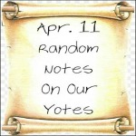 Apr. 11 Random Notes On Our Yotes