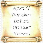 Apr. 4 Random Notes On Our Yotes