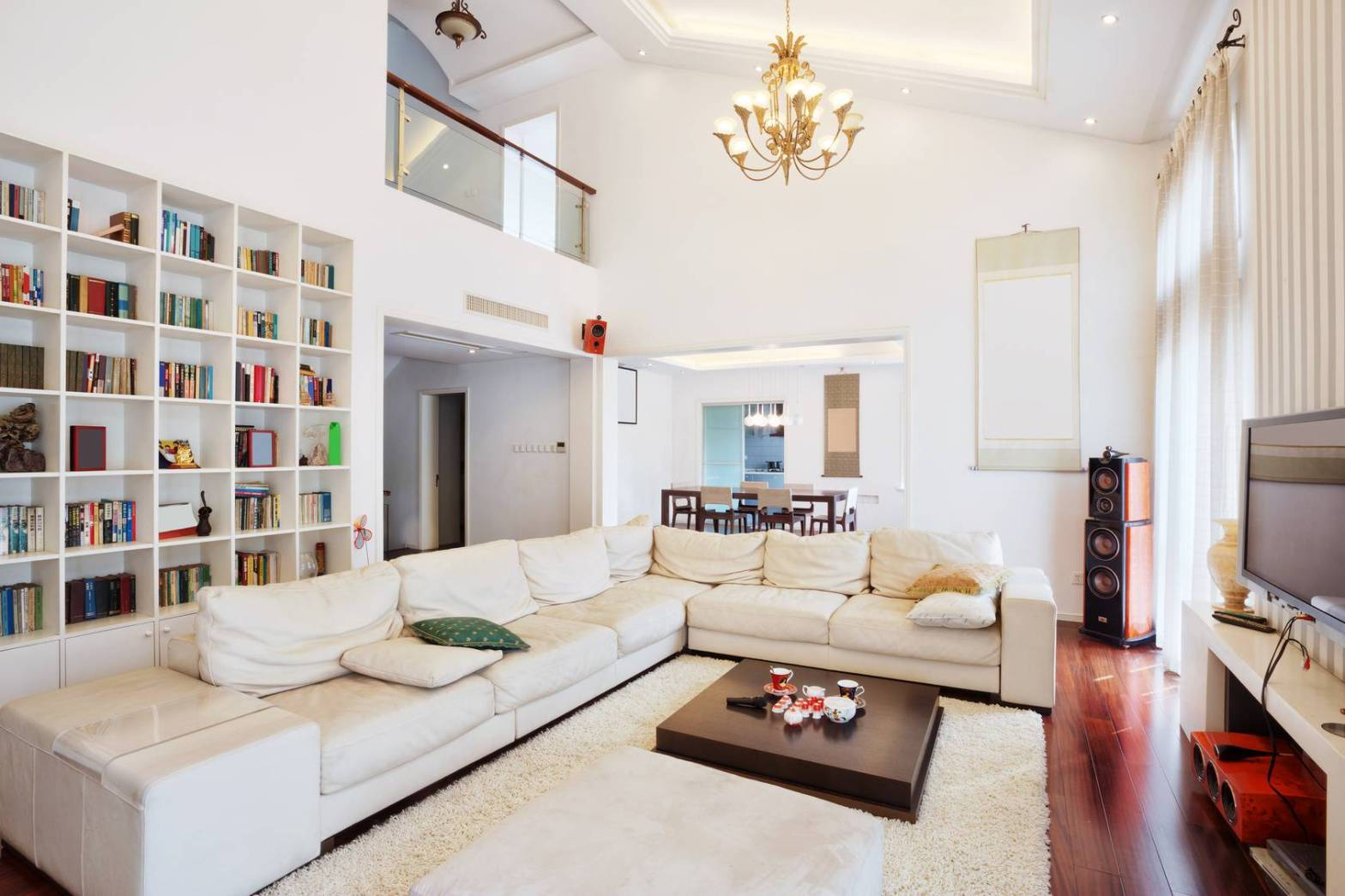 Organized Living Room In Home