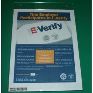 E-Verify Sign Holder, Wall-Mount