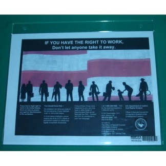 E-Verify – Right to Work, Wall-Mount Sign Holder