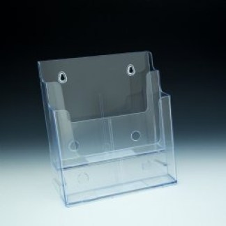 DS 8.5 2DCI 2 Tier Acrylic Countertop and Wall Mount Brochure Holder for 8.5×11 Literature (Pack of 8/$9.00 each)