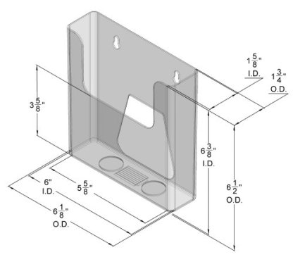 DS 660 CI Wall Mount Brochure Holder for Literature up to 5 13/16″w ( Pack of 60/$2.00 each)