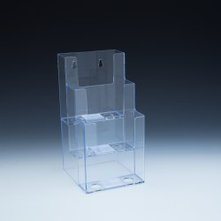 DS 803 CL 3 Tier Wall Mount or Countertop Brochure Holder for Trifold Literature up to 4 3/8″w (Pack of 18/$3.90 Each)