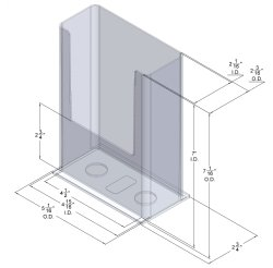 DS 870 CI Wall Mount Brochure Holder for Trifold Literature up to 4.75″w (Pack of 54/$$1.92 Each)
