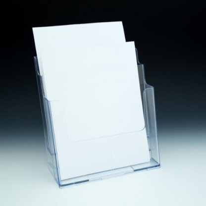 2 Tier Countertop and Wall Mount Brochure Holder for 8.5×11 Literature(pack of 8/$8.92 each)