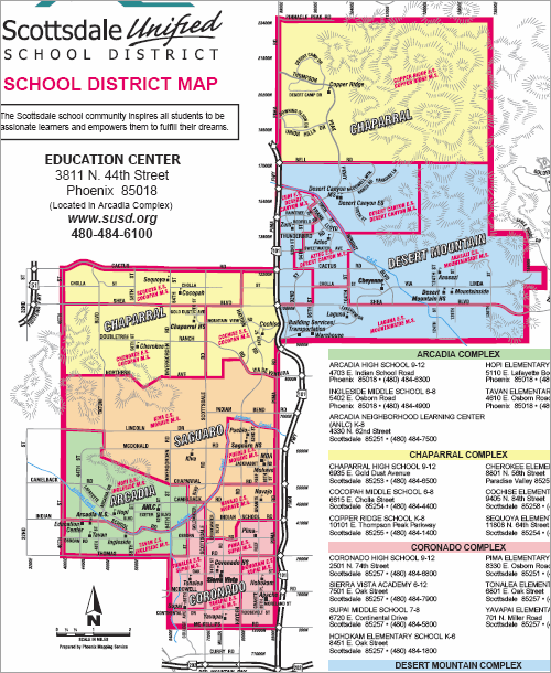 scottsdale unified school district boundary maps