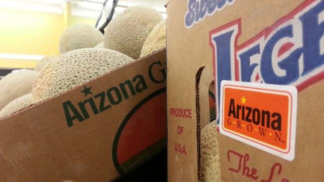 Arizona Grown logo on cantaloupes
