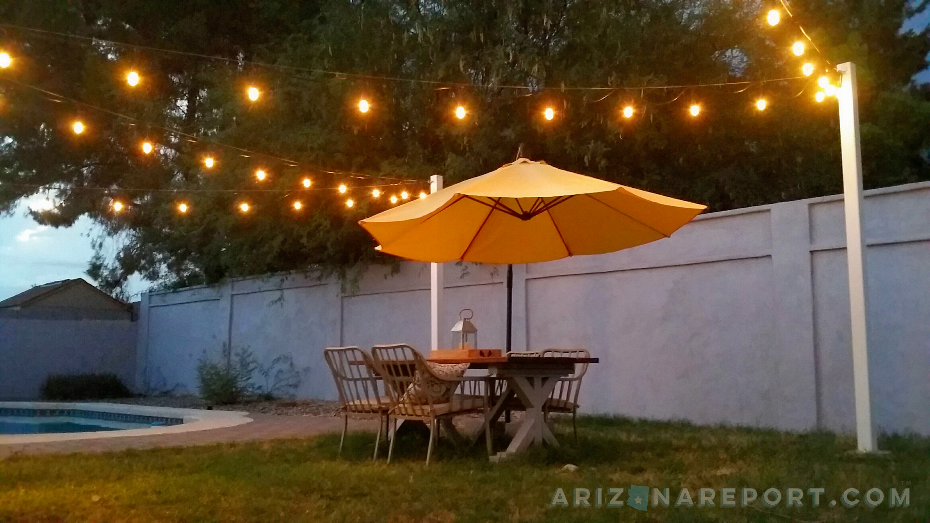 to hang string lights and cafe lights