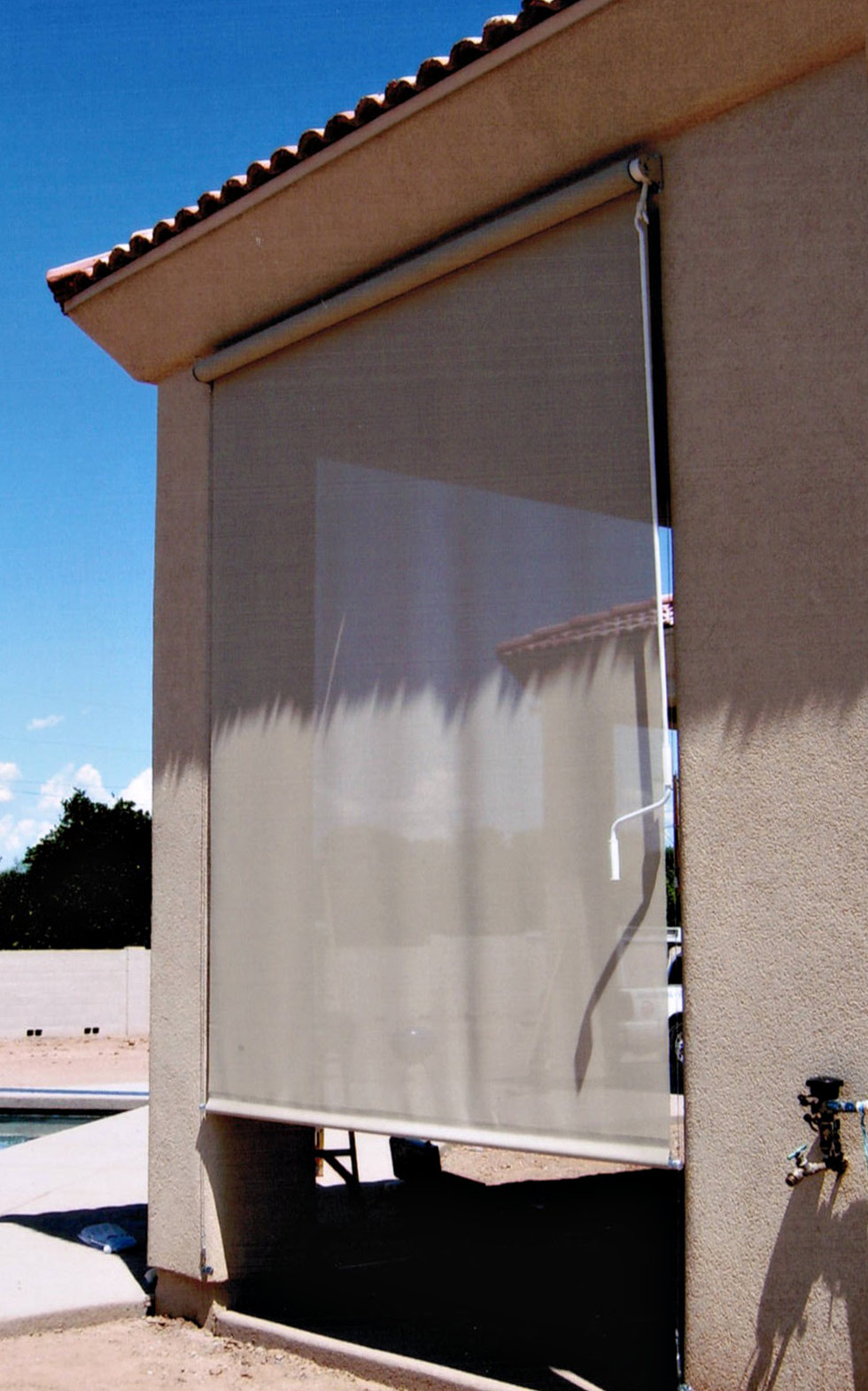 Patio Roll Up Shades Arizona Sun Screen