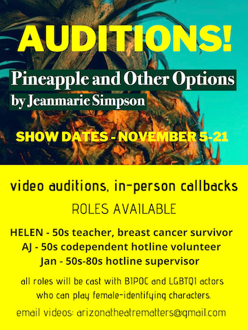 Pineapple and Other Options Auditions Poster