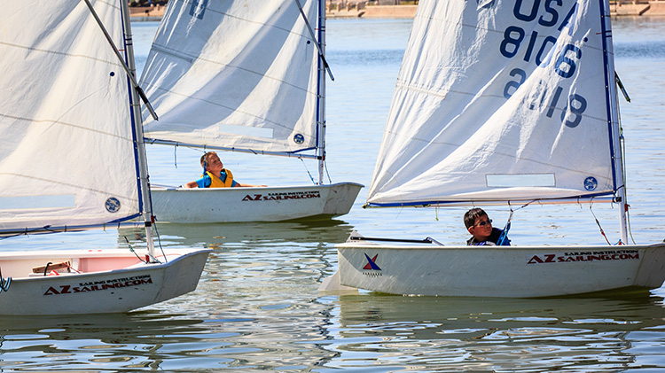 Learning to sail with the Arizona Sailing Foundation. Photo: Mike Ferring