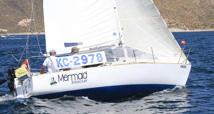Victor Felize aboard Mermaid. Photo: Chris Smith