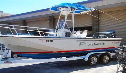Shiny new AYC mark boat. Photo: David Cummings