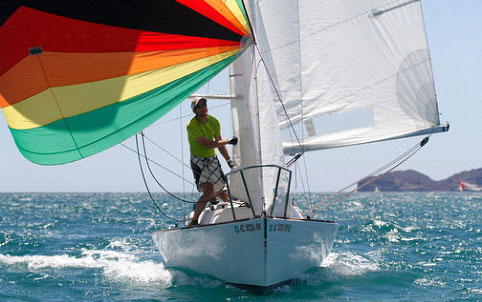 Some of the action you'll find at the Tucson Sailing Club's San Carlos regattas.