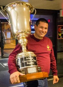 Jim Tomes and that Great Big trophy. Photo: Mike Ferring