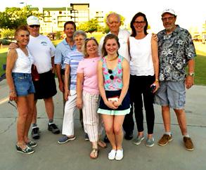 From left: Charlie and Debi Fife, Martin Lorch, Carol Ohlin, Mary Kay Farrington Lorch, Alexia Lorch, Tom Ohlin, Joyce Seale, and Dennis Lynde