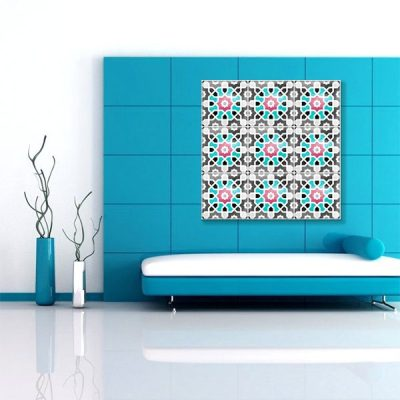 Tableau oriental mosaique coloree