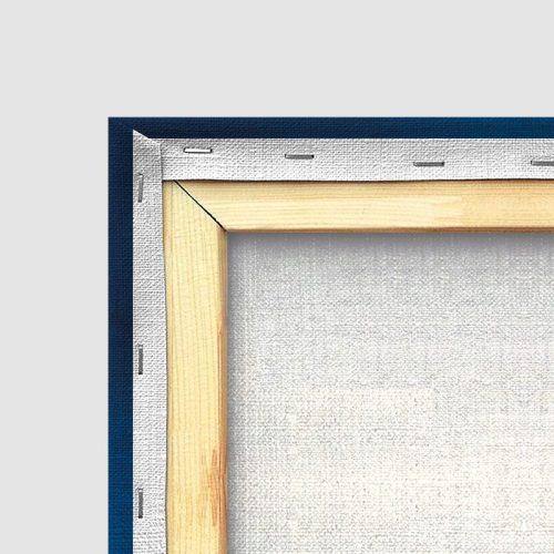 Tableau oriental tapis motif bleu-détail