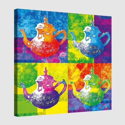 Tableau oriental théière pop