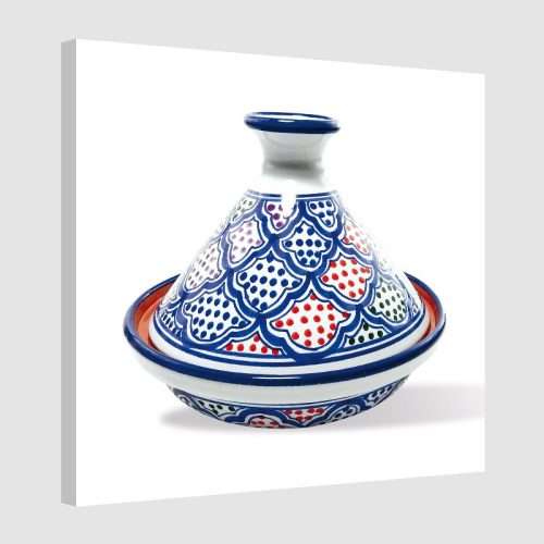 Tableau oriental tajine unitaire-bleu