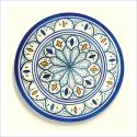 Poster oriental-assiette unitaire-bleu