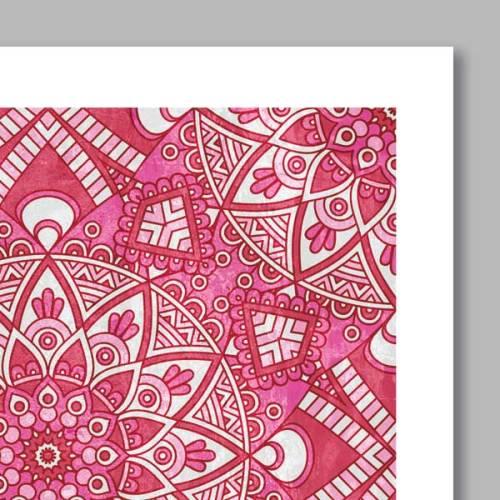 Poster oriental mosaique fleur